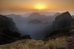 Madeira - Pico do Arieiro - Sunset Royalty Free Stock Photo