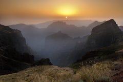 Madeira - Pico do Arieiro - Sunset Royalty Free Stock Photo