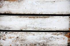 Madeira pintada branca velha Imagens de Stock