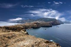 Madeira, Ponte de Sao Lourenco, zona oriental da ilha, porto Fotografia de Stock Royalty Free
