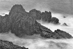Madeira Porto Moniz. Water effects at Madeira Porto Moniz taken in June 2016 Stock Images