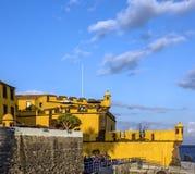 Madeira in Portugal. Funchal - old castle Fortaleza de Sao Tiago. stock photography