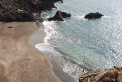 Madeira - Prainha beach with black sand. Madeira Island - Prainha beach with black sand - Atlantic Ocean Stock Photos