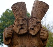 Madeira que cinzela na cidade de Suzdal imagem de stock royalty free
