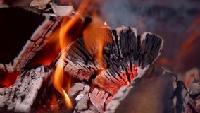 Madeira quente do fogo vídeos de arquivo