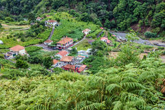 Madeira rural houses panoramic view, Portugal royalty free stock photography