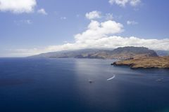 Madeira Sea IV. Madeira southern coastline, ideal for hiking stock image