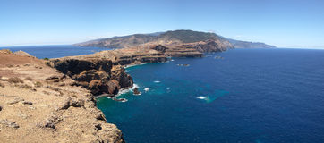 Madeira seen from Ponta de Sao Lourenco. Stock Photography