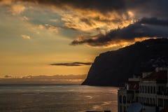 Madeira sunsetting Stock Photography