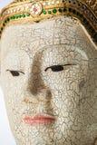 Madeira @ Tailândia da estátua da Buda da textura Imagens de Stock