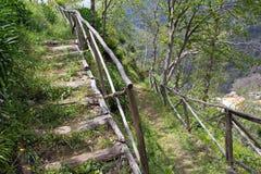 Madeira, vale das freiras, Curral DAS Freiras fotografia de stock