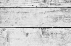 Madeira velha branca ou assoalho de madeira da prancha do vintage fotografia de stock