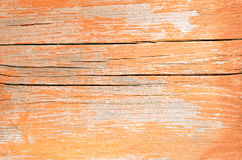 Madeira velha do fundo pintada com pintura vermelha Imagem de Stock