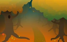 Madeira vermelha da floresta do outono Imagem de Stock Royalty Free