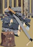 A madeira vista do incêndio em uma cerca Imagem de Stock Royalty Free