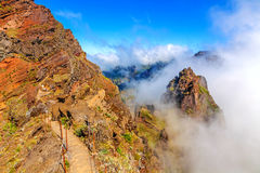 Madeira volcanic mountain landscape Royalty Free Stock Photo