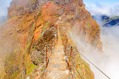 Madeira volcanic mountain landscape Royalty Free Stock Images