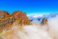 Madeira volcanic mountain landscape Stock Photos