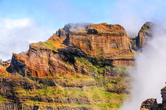 Madeira volcanic mountain landscape Stock Photography