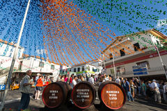 The Madeira Wine Festival in  in Estreito de Camara de Lobos, Royalty Free Stock Image