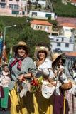Madeira Wine Festival in Estreito de Camara de Lobos, Madeira, Portugal. Women wearing in traditional costumes at Madeira Wine Festival in Estreito de Camara de Stock Photos