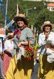 Madeira Wine Festival in Estreito de Camara de Lobos, Madeira, Portugal. Women wearing in traditional costumes at Madeira Wine Festival in Estreito de Camara de Royalty Free Stock Photo