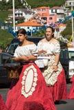 Madeira Wine Festival in Estreito de Camara de Lobos, Madeira, Portugal. Women wearing in traditional costumes at Madeira Wine Festival in Estreito de Camara de Stock Images