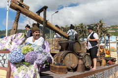 The Madeira Wine Festival in  in Estreito de Camara de Lobos, Stock Photo