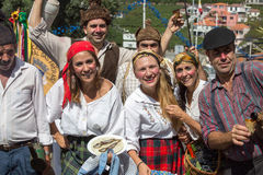 The Madeira Wine Festival in  in Estreito de Camara de Lobos, Royalty Free Stock Photo
