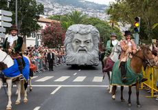 Madeira Wine Festival in Funchal. royalty free stock image