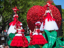 Madeirablommafestival 2013 arkivfoton