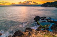Madeiran ηλιοβασίλεμα Στοκ Εικόνα