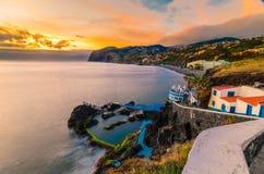 Madeiran ηλιοβασίλεμα Στοκ φωτογραφία με δικαίωμα ελεύθερης χρήσης