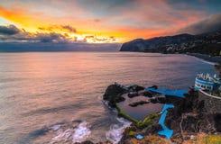 Madeiran ηλιοβασίλεμα Στοκ Εικόνες
