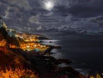 Madeiran νύχτα Στοκ εικόνα με δικαίωμα ελεύθερης χρήσης
