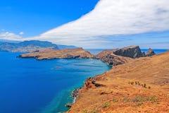Madeiran Ponta gör Furado - Casa di Sardinha - Ponta de Sao Lourenco Arkivfoto