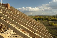 Madeiras do telhado Fotografia de Stock