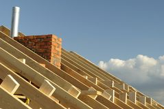 Madeiras do telhado Fotos de Stock