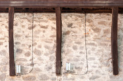 Madeiras e teste padrão das pedras Imagem de Stock Royalty Free