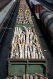 Madeiras embaladas foto de stock