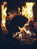 Madeiras no fogo foto de stock