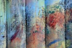 Madeiras pintadas Fotografia de Stock Royalty Free