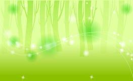 Madeiras verdes ilustração royalty free