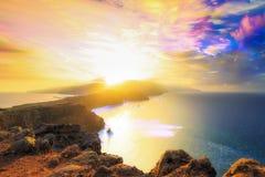 Madeirasolnedgångmoln fotografering för bildbyråer