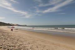 Madeirostrand - Pipa-strand, RN, Brazilië stock fotografie