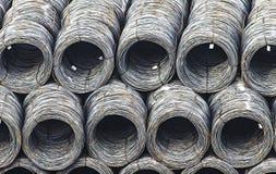 Madeja de la acción del alambre de acero, cargo comercial Fotos de archivo libres de regalías