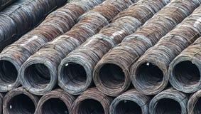 Madeja de la acción del alambre de acero, cargo comercial Fotografía de archivo libre de regalías