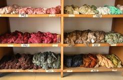 Madejas de la cuerda de rosca de seda teñida Imagen de archivo libre de regalías