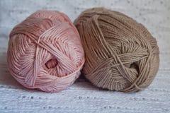 Madejas del hilo de algodón Foto de archivo libre de regalías