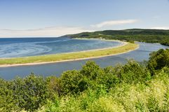 Madeleine cape at low tide, Quebec Royalty Free Stock Image